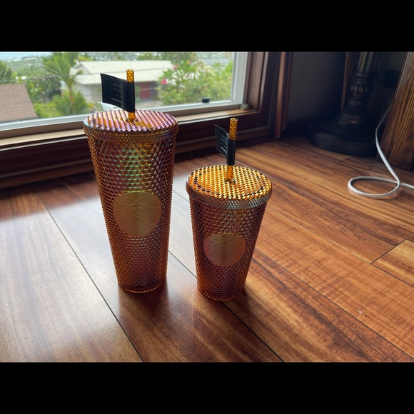 2021 Starbucks 50th Anniversary set of 2 cups gold